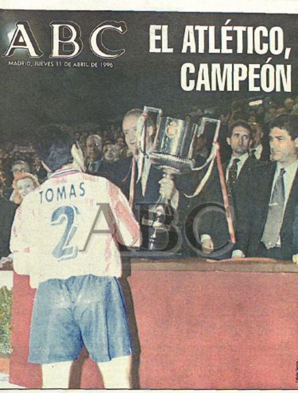 TEMPORADA 1995/1996. El Atlético gana su novena Copa del Rey.
