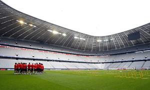 Todo listo para el partidazo en Múnich