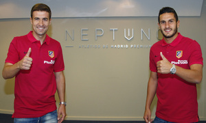 Gabi and Koke get to know Neptuno Atlético de Madrid Premium