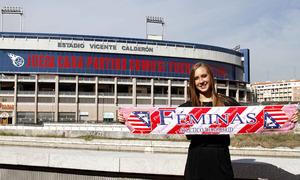 El primer día de Nicole Regnier como jugadora del Atlético de Madrid Féminas