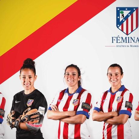 Club atl tico de madrid web oficial cinco jugadoras for Oficinas atletico de madrid