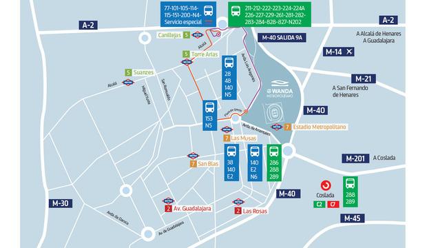 Zona Azul Sevilla Mapa.Pagina Oficial Del Atletico De Madrid Ubicacion Del Wanda