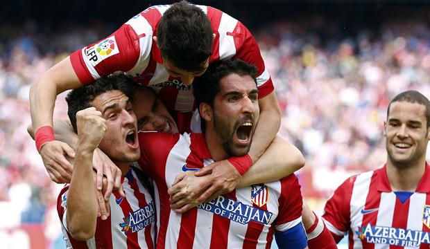 TEMPORADA 2013/2014. Atlético de Madrid-Villarreal. Raúl García celebra su gol ante el Villarreal