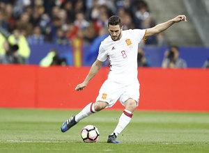 Koke fue titular y jugo 74 minutos en el partido de España frente a Francia en París